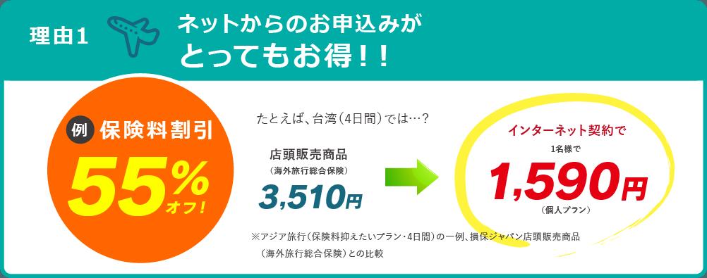 理由1:ネットからのお申し込みがとってもお得!!